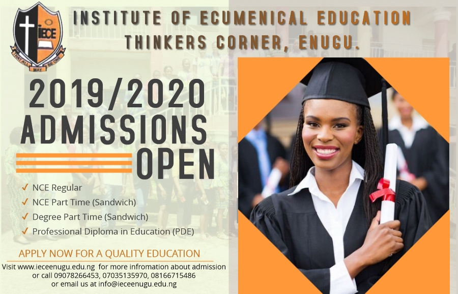 Call for Application for Admissions into 2019/2020  Academic Session