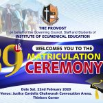 39th Matriculation Ceremony