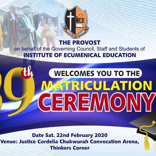 39th Matriculation Ceremony
